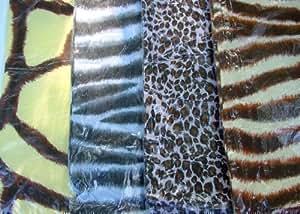 SET OF 4 SAFARI ANIMAL PRINT CUSHION COVERS