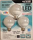 Feit 8 Watt LED G25 Light Bulbs 3-Pack (Equiv to 40 watts) 2700K Color 94 CRI