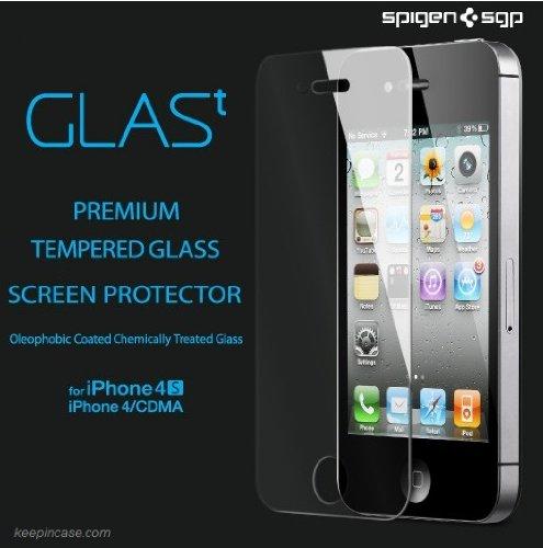 SPIGEN SGP アイフォン 4 / 4S シュタインハイル  GLAS.t リアル スクリーン プロテクター for Apple iPhone 4 / 4S  SGP08645