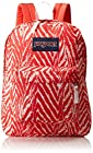 JanSport Superbreak Backpack - Coral Peaches Wild At Heart / 16.7H x 13W x 8.5D