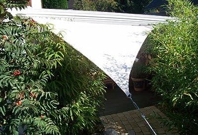 YACCU Sonnensegel WASSERDICHT Rechteck 7 x 4,5 m Natur-Creme von TradeStore24 bei Gartenmöbel von Du und Dein Garten