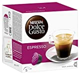 Nescafé Dolce Gusto Espresso 16 Capsules (Pack of 3, 48 coffee pods, 48 servings)