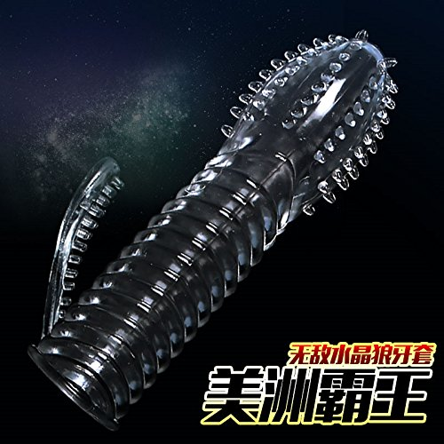 Negly(TM) Newest Crystal Sleeve for Time Delay Enlargement Excited Special Condoms Extender s for Men Women