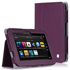 CaseCrown Bold Standby Case (Purple) for Amazon Kindle Fire HD 8.9 Inch (Built-in magnet for sleep / wake feature)