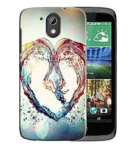 PrintFunny Designer Printed Case For HTC Desire 526