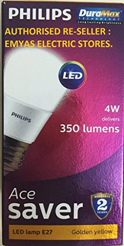 Philips Ace Saver E27 9W 740 Lumens LED Bulb (Warm White, Pack of 2)