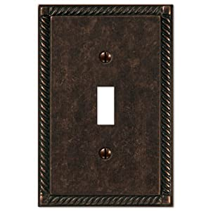 Tuscan Antique Bronze - 1 Toggle Wallplate