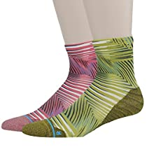 HUSO Men's Novelty All Sports 360 Digital Printing Stretch Soccer Ankle Socks 2 Pairs
