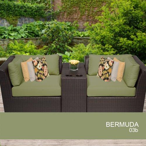 Stupendous Bermuda 3 Piece Outdoor Wicker Patio Furniture Set Machost Co Dining Chair Design Ideas Machostcouk