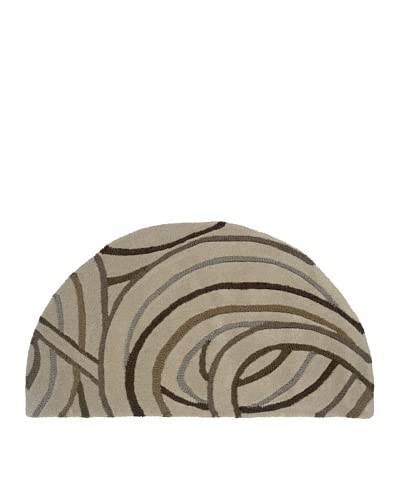 Trade-Am Vibrance Swirls Half-Moon Rug, Cosmos, 22 x 40