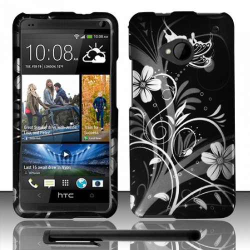 Best  Artistic Design HTC One (M7) Snap-On Protector Hard Cover Case + Bonus Long Arch 5.5