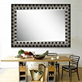 Elegant Arts & Frames Black And Silver Wall Decorative Wooden Mirror 24 Inch X 36 Inch