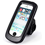 Arendo - waterproofed bicycle bike mount for Apple iPhone 5 / 5S | bicycle case/holder | mobile phone/Smartphone-mount | easy handling | secure mounting | perfectly suitable for Bike Navigation | suitable for all types of bicycles and handlebars