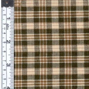 Textile Creations 1336 Rustic Woven Fabric, Small Plaid Natural Brown, 15 yd. hivi dma a fabric textile silk dome mid tweeter pmax 150w