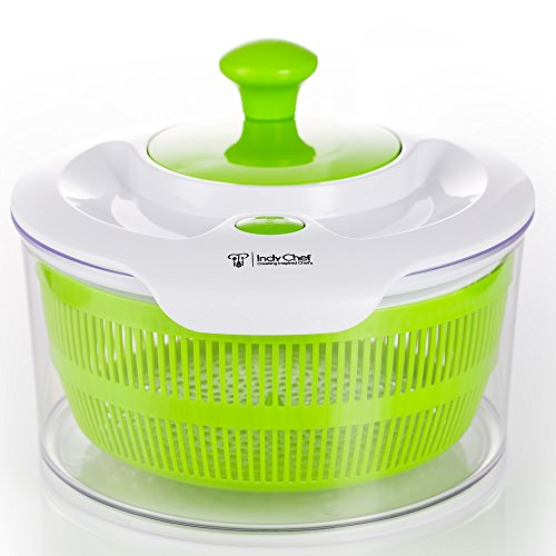 Salad Spinner with Large 5.0 Quart Bowl, Storage Lid and Lettuce Knife (Industrial Centrifuge compare prices)