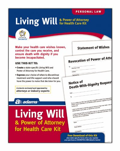 Adams Living Will and Power of Attorney for Healthcare Kit, 8.88 x 11.69 Inch, White (K306)