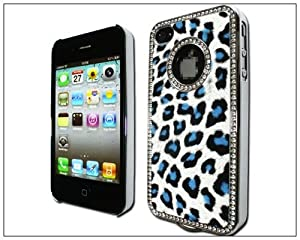 BONAMART ® Luxury Unique Best Leopard Leather Czech Rhinestone Case Cover For Apple iPhone 4 4G 4S Crystal