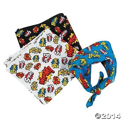 Super Hero Superhero Bandanas - 12 pcs