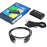 PS2 to HDMI コンバーター /PS2専用HDMI接続コネクター/変換アダプター/AV変換器/Playstation2/スピーカーに接続する端子有(Ver1.4 HDMIケーブル付属)