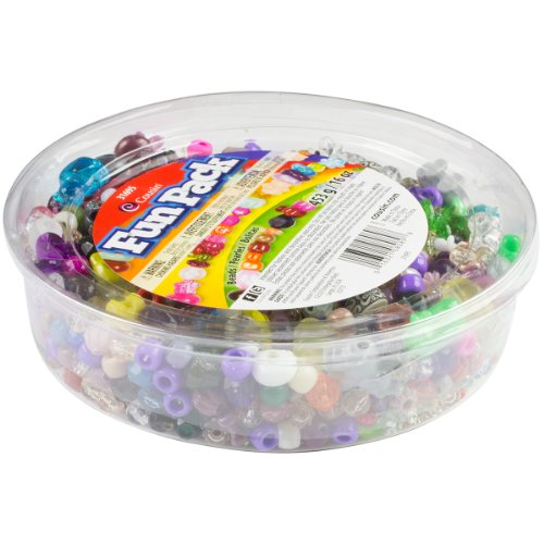 Cousin 31695 Fun Value Pack Mixed Plastic Beads, Assorted, 16-Ounce