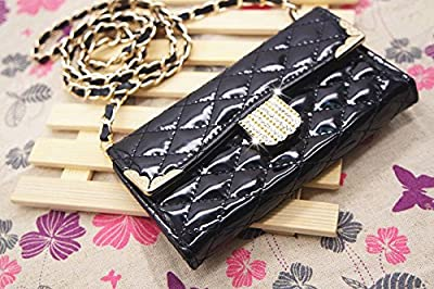 Diamond Luxury Rhinestone Bling Flip Handbag Wallet Leather Pouch Case Cover For Smart Mobile Phones