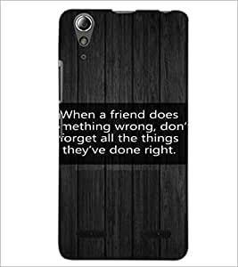 PrintDhaba Quote D-3977 Back Case Cover for LENOVO A6000 (Multi-Coloured)