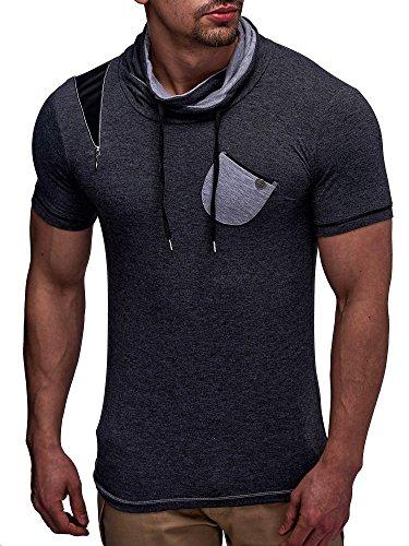 LEIF NELSON Herren T-Shirt LN145; Grš§e M, Anthrazit thumbnail