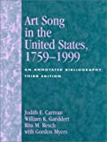 img - for Art Song in the United States, 1759-1999: An Annotated Bibliography book / textbook / text book