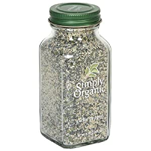 Simply Organic Garlic Pepper Certified Organic, 3.73-Ounce Containers  (Pack of 3)