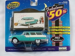 Road Champs Collectible Diecast 1955 Pontiac Safari Wagon 1/43 Scale with Billboard
