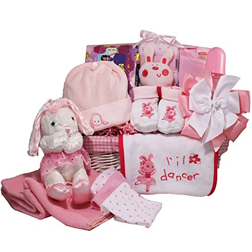 Art of Appreciation Gift Baskets Baby Ballerina Gift Basket, Pink Girl - 1