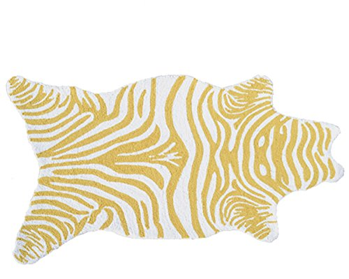 The Rug Market 25619B Handmade Rugs, Mini Zebra Yellow, Multicolor - 1