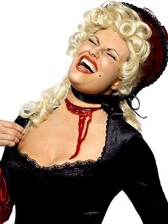 Slash throat scar halloween fancy dress accessory bloodied wound self adhesive scar latex make - Maquillage halloween cicatrice ...
