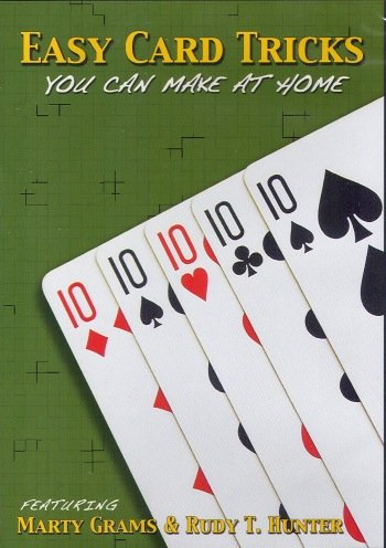 Easy Card Tricks You Can Make At Home, with Marty Grams and Rudy T Hunter DVD
