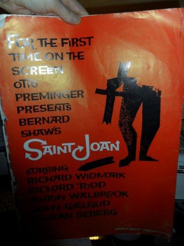 Saint Joan: Richard Widmark [1957 Press Book 20Pgs + Supplement]
