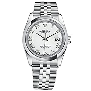 Rolex Datejust 36 Stainless Steel Watch White Dial 116200