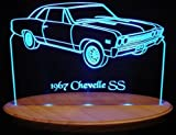 1967 Chevelle SS Acrylic Lighted Edge Lit LED Sign / Light Up Plaque 67 VVD1