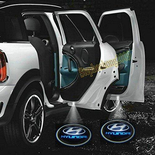 2 X 2014 Latest 6Th Gen Car Door Shadow Laser Projector Logo Led Light For Hyundai All Series Coupe Tucson Accent Elantra Terracan Veracruz Sonata Santa Fe I10 I20 I30 I30Cw I40 I800 Ix35 Getz