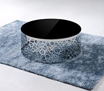 CF130 - Modern Black Glass Top Coffee Table Black