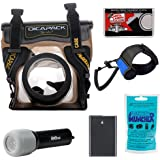 DiCAPac WP-S5 Waterproof Underwater Housing Case with EN-EL14 Battery + LED Torch & Handstrap + Accessory Kit for Nikon D3100, D3200, D5100, D5200 Digital SLR Cameras
