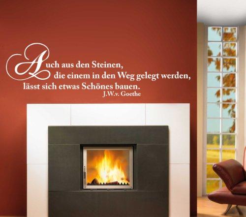 Wandtattoo W292 U201cAuch Aus Steinenu2026u201d U2013 Goethe U2013 Flur (198×58 Cm) Creme  Bewertungen,
