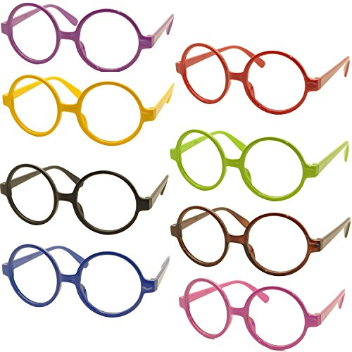FancyG® Retro Geek Nerd Style Round Shape Glass Frame NO LENSES