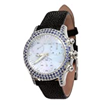 Effy Columbus Circle Diamond/Blue Saphhire 3.31 Tcw. Mother-of-Pearl Dial Ladies Watch #Z00Z163DS0