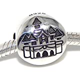 Pro Jewelry .925 Sterling Silver Castle Charm Bead for Snake Chain Charm Bracelet