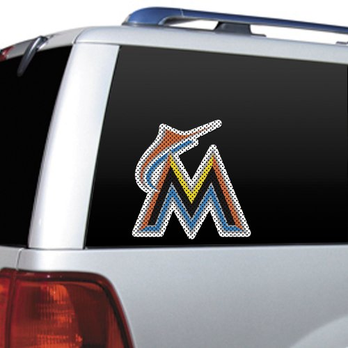 Mlb Miami Marlins Die Cut Window Film Vehicles Parts Vehicle Parts Accessories Motor Vehicle