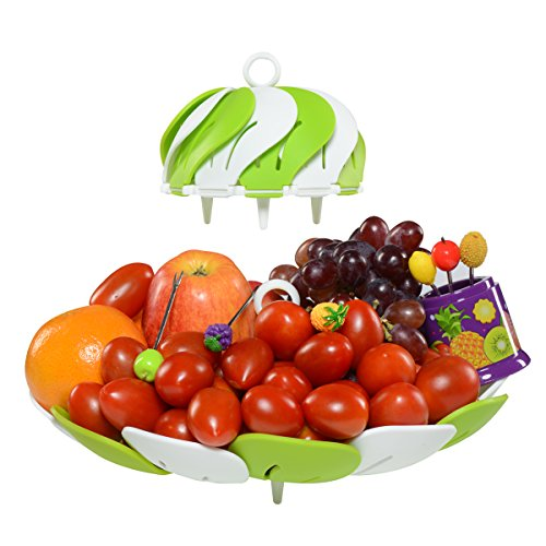 Premium Designer Fruit Bowl & Candy Dish is the Ultimate Tray/Platter & Plate, FREE 6 Stainless Steel Forks Included, Awesome