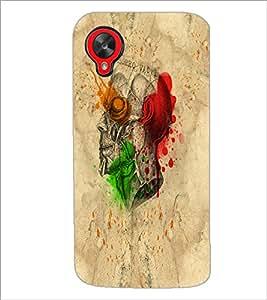 PrintDhaba Multicolour Skull D-5535 Back Case Cover for LG GOOGLE NEXUS 5 (Multi-Coloured)