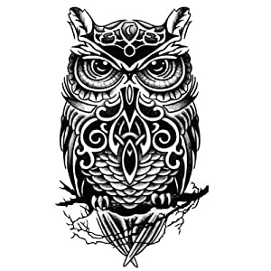 Cool Owl Pattern Tattoos Body Owl Tattoos For Men