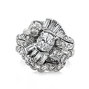 Mark Broumand 2.13ct Old Mine Cut Diamond Engagement Ring