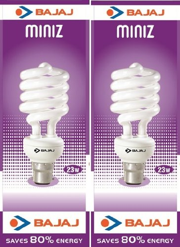 Bajaj Bajaj Ecolux T3 Spiral CDL B22 CFL  - (23 Watt And Pack Of 2) (Transperant)